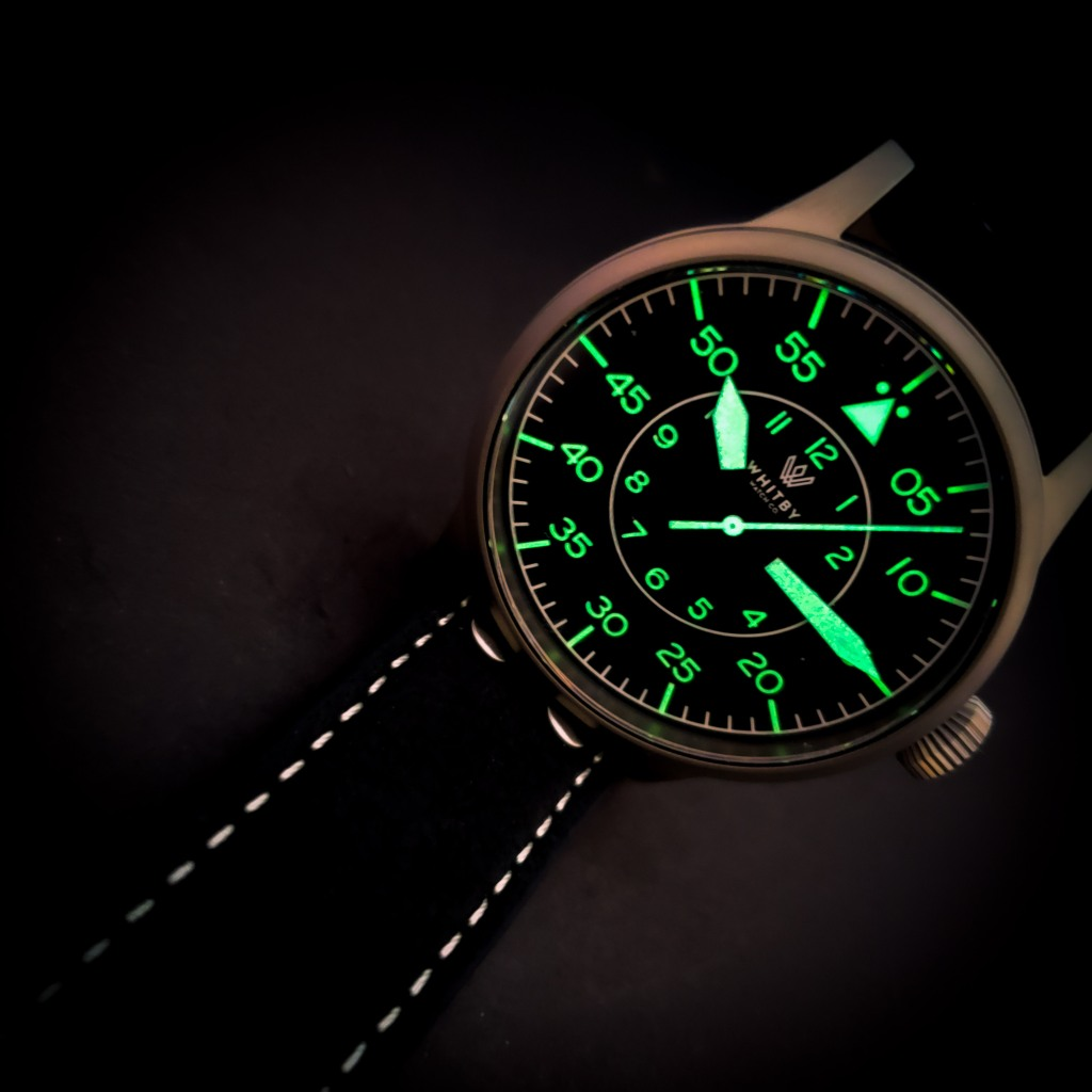 Whitby Watch Company Arrow Pilot Watch (Flieger) Lume