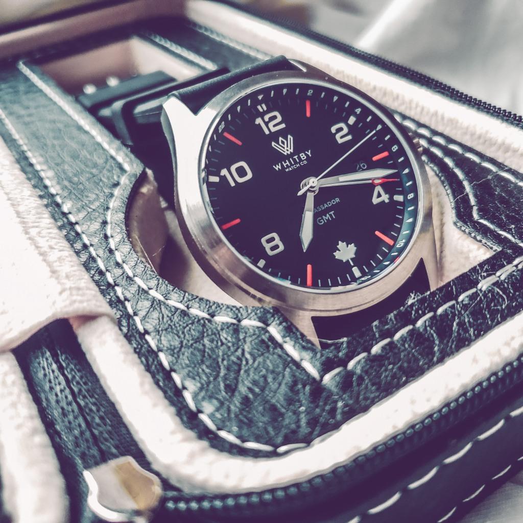 Whibty Watch Co. Ambassador GMT Ronda Swiss Quartz Microbrand Watch